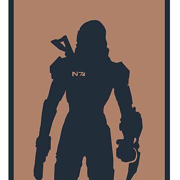 Mass Effect minimalist art by Rattaspi