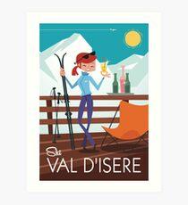 Ski Val D'isere poster Art Print