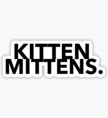 Kitten Mittens Design Sticker