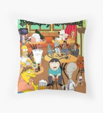 Drinking Buddies - Contrabrand  Throw Pillow