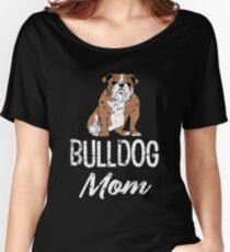 English Bulldog Mom funny saying women's shirt Women's Relaxed Fit T-Shirt