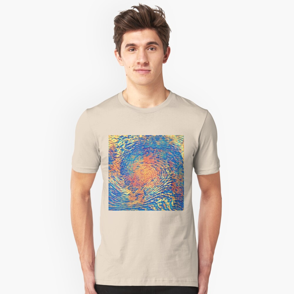 Abstract Wave Slim Fit T-Shirt