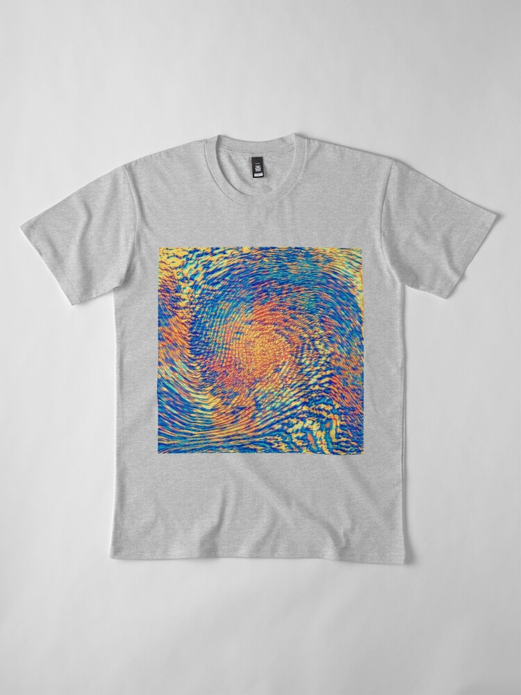 Alternate view of Abstract Wave Premium T-Shirt