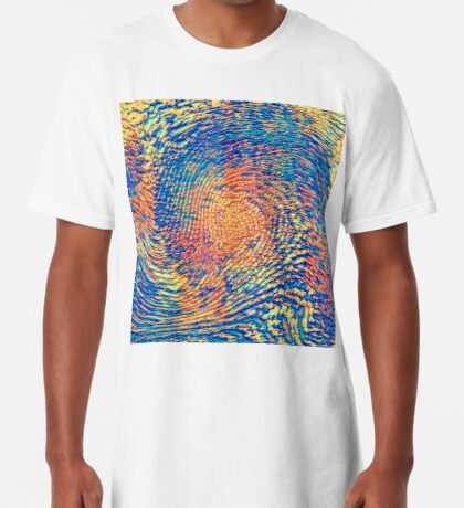 Abstract Wave Long T-Shirt