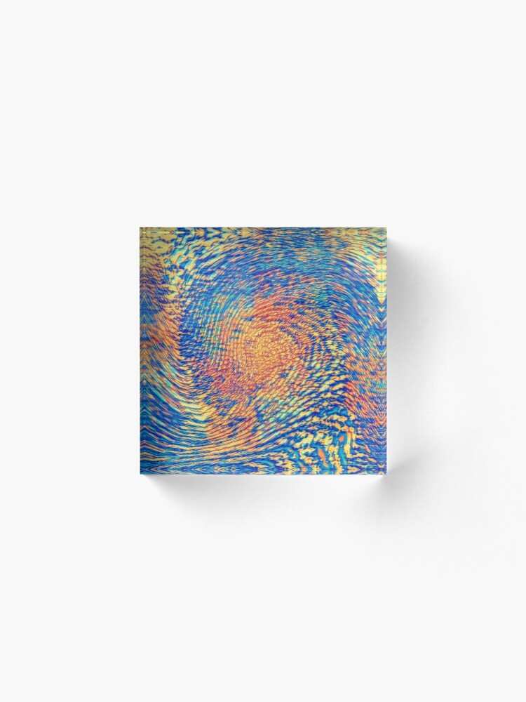 Alternate view of Abstract Wave Acrylic Block