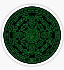 Bureau of Memetic Warfare Circle -green- Sticker