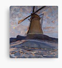 Piet Mondrian - Windmill, 1917 Canvas Print