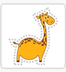 funny fat giraffe! Sticker