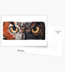 Eye-Catching Great Horned Owl Greeting Card
