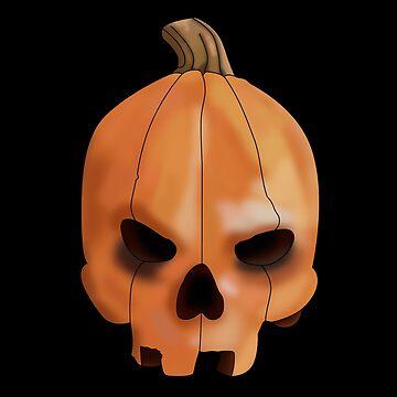 Pumpkin Skull by kijkopdeklok