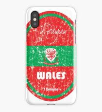 Football - Wales (Distressed) iPhone Case/Skin