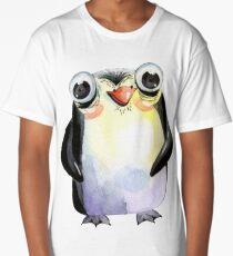 Cute Watercolour Animals Penguin Long T-Shirt