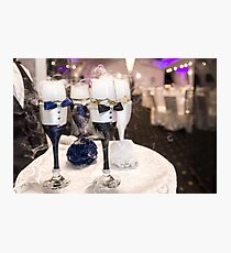 Champagne for bride and groom at wedding reception Photographic Print