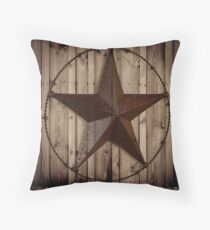 primitive western country barn wood grunge texas star  Floor Pillow