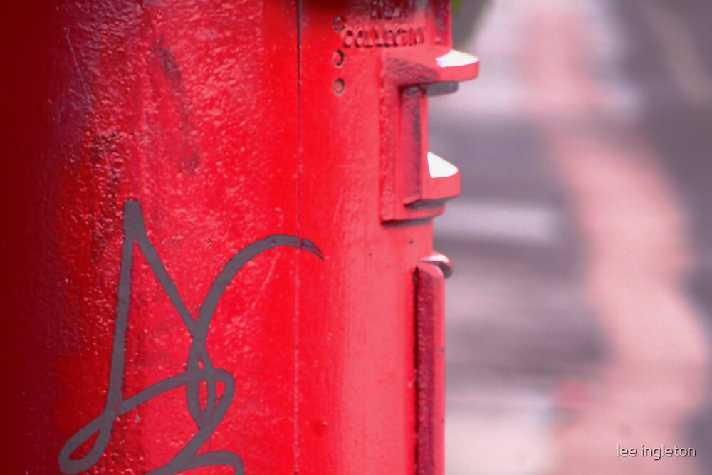 Red letter box by lee ingleton