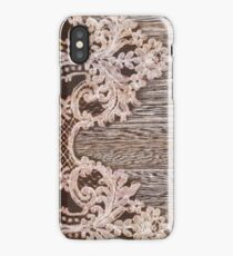 rustic Western Country Farmhouse Chic Barn Wood Lace iPhone Case