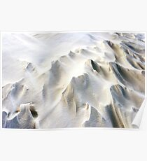 Snowdrifts in Snow at Winter Poster