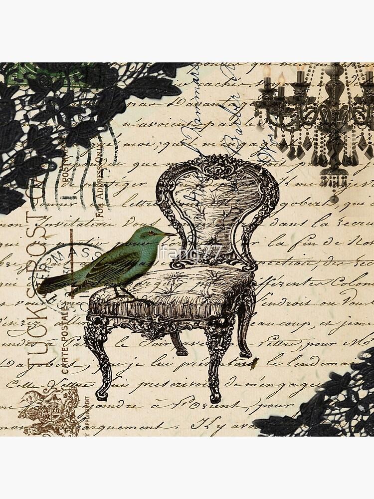 Shabby Chic Vintage Vogel Skripte französischen Stuhl Kronleuchter von lfang77