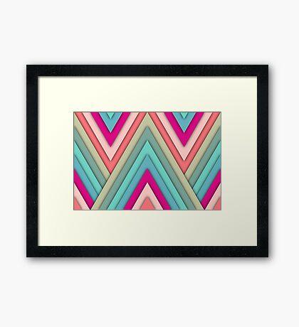 Triangles Pop Framed Print