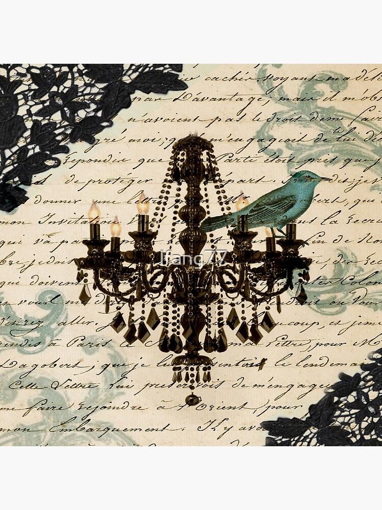 Vintage Vogel Spitze Französisch Skripte Kronleuchter Paris von lfang77