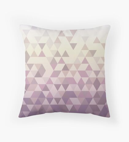Falling Triangles Throw Pillow