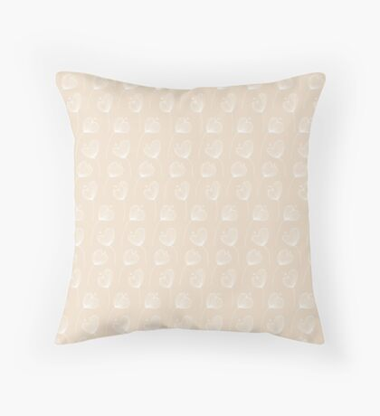 Delicate Floral Pink Pattern Throw Pillow