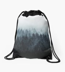 High And Low Drawstring Bag