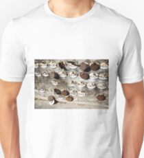 Plates with Numbers Unisex T-Shirt