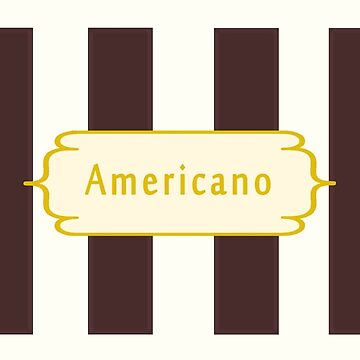 Americano Coffee Antique by Zampadoro