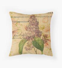 purpurrote lila Vintage Blumenparis botanische Kunst Dekokissen