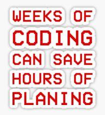 Coding-Planing design Sticker