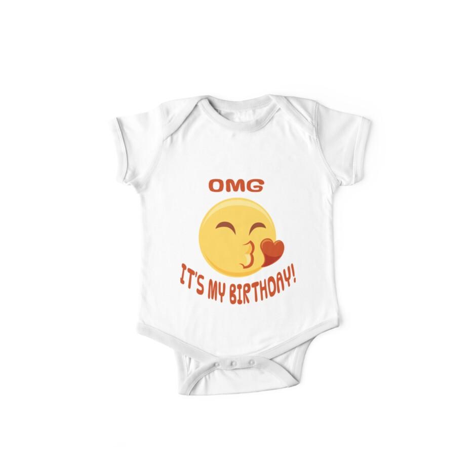 OMG Its My Birthday Emoji Shirt