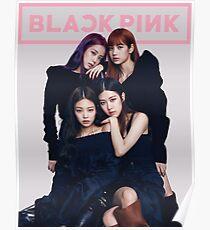bpink schwarz Poster