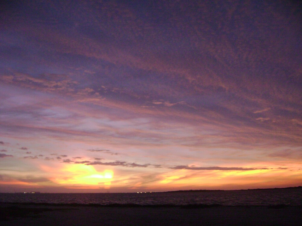 Hurricane Ike's Sunset 2008 #12 by Leah Smaridge