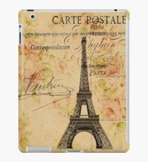 Vinilo o funda para iPad Torre Eiffel retro vintage floral de la vendimia
