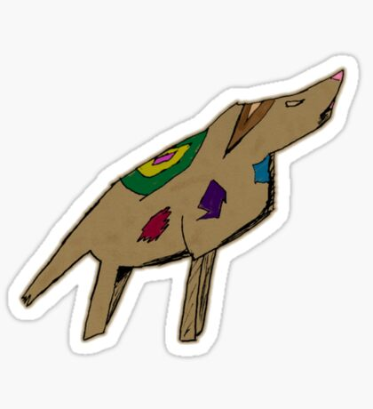 Abstract Dog Sticker
