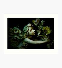 Statue - Fairy Flowers Art Print
