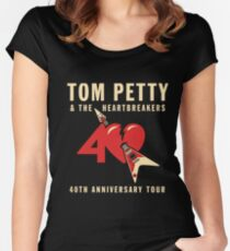 TOM PETTY & THE HEART BREAKERS Women's Fitted Scoop T-Shirt