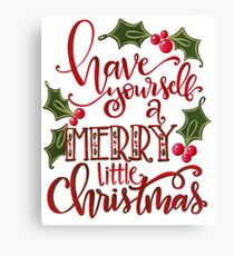 Merry Little Christmas Canvas Print