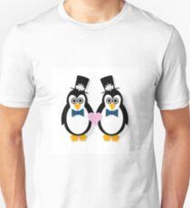 Penguin Groom and Groom T-Shirt
