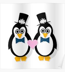 Penguin Groom and Groom Poster