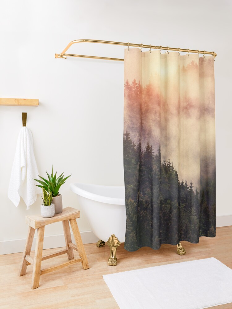 Alternate view of In My Other World Shower Curtain