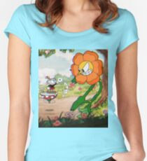 Cuphead Women's Fitted Scoop T-Shirt