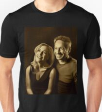 A successful old married couple - sepia panting T-Shirt