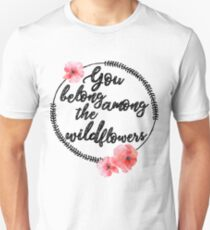 Camiseta unisex You Belong Among The Wildflowers Tee, camiseta de Tom Petty