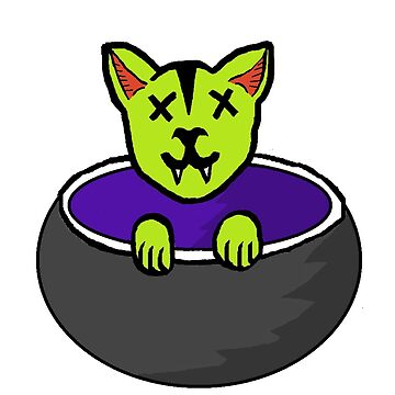 Ghoul Halloween Kitty by PitchBlaqk