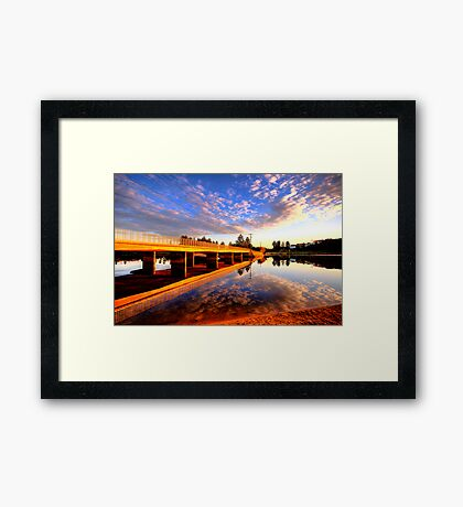 Mirror - Narrabeen Lakes - The HDR Series Framed Print