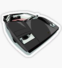 Black Lambo Sticker