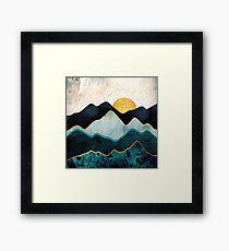 Glacial Hills Framed Print