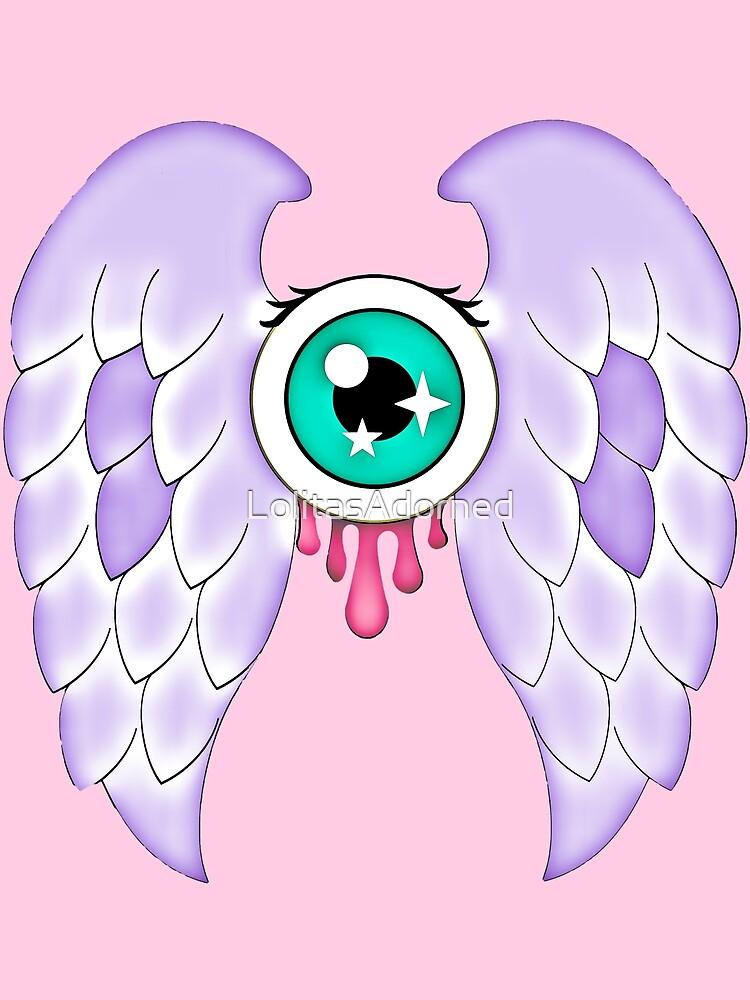 Pastel Goth   Winged Eye   Pink by LolitasAdorned